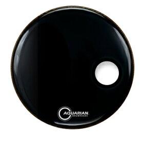 """バスドラムヘッド Poarted Front Bass Drumheads SMPTCC22BK /22""""(55.9cm) Black -4 3/4""""(12cm) Port -1プライ/10mil Aquerian アクエリアン ドラムヘッド"""