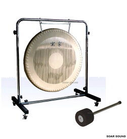 【日本製】宝来 銅鑼(ドラ)セット一式 ゴング 32インチ(80cm) 11kg G-32S スタンド・マレット付属