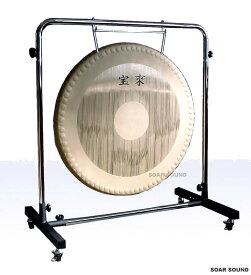 【日本製】宝来 銅鑼(ドラ)セット ゴング 30インチ(75cm) 10kg G-30