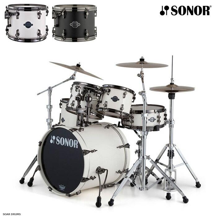 ドラムセット SONOR ソナー アセントシリーズ STUDIO / STAGE1 / STAGE3 ブラックパーツ