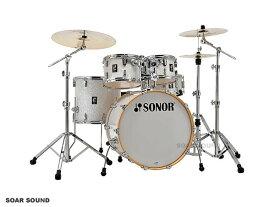 SONOR ソナー ドラムセット STAGE ステージ SN-AQ2SG 22インチバスドラムバージョン カバリング WHP ホワイトパール