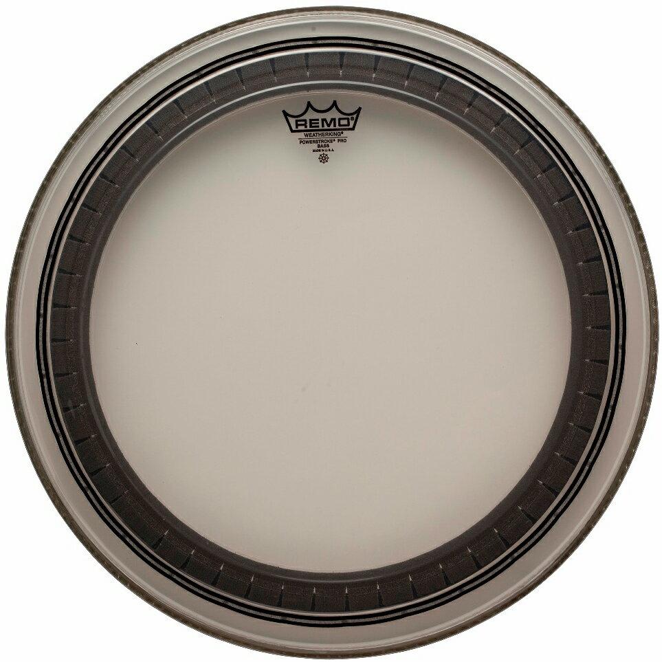 """REMO レモ 24"""" POWERSTROKE PRO CLEAR パワーストロークプロ クリアー ドラムヘッド ヘッド PR-324B バスドラム バスドラム用"""