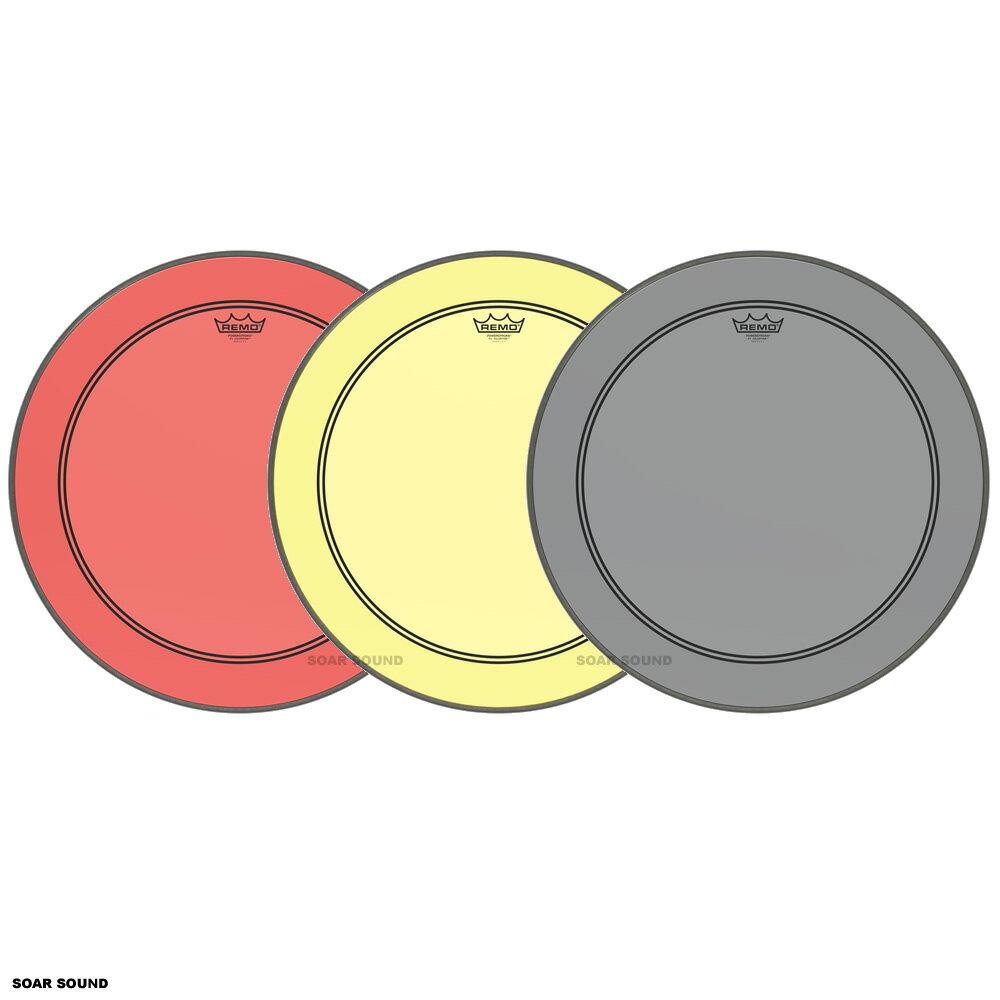 """REMO レモ POWERSTROKE3 バスドラム用 色付き 24"""" ドラムヘッド カラー クリア ドラム ヘッド 透明 P3-324B クリアヘッド 太鼓 皮 バスドラム パワーストローク3"""