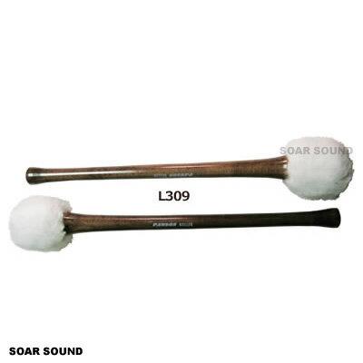 【2本セット】Ludwig ラディック コンサート バスドラム用マレット ソフトホワイトパイル スモール メイプルシャフト L309 大太鼓用 バチ 2本1組