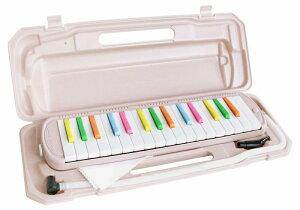 KC 鍵盤ハーモニカ 32鍵盤 薄い ピンク x カラフル な キャンディカラー ピアニカ P3001-32K/CANDY
