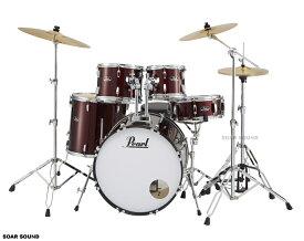 Pearl パール ドラムセット ROADSHOW ロードショー レッドワインカラー No.91 RED WINE 初心者 にもおすすめ 入門用 エントリーモデル RS525SCWN/C 赤色 ドラム
