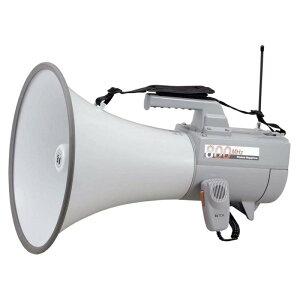 TOA 拡声器 30W ワイヤレスメガホン ホイッスル音付 マイク付き 抗菌処理 ハンドル付ショルダーメガホン ER-2830W メガホン 電池駆動