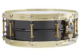 """Ludwig ラディック ブラックビューティ Brass on Brass Black Beauty 5""""x14"""" メタル スープラ・フォニック、ダイキャストブラスフープ、ブラス、シームレスシェル、ブラスチューブラグ、P-86ストレイナー付 LB416BT"""
