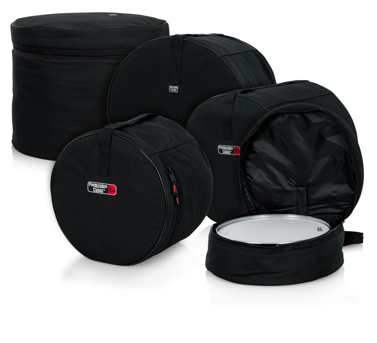 ドラムセット用バッグセット 5ピース・フュージョンセット ドラムバッグ ドラムケース ドラムセット用ケース GP-FUSION16 バスドラム タム フロアタム スネア