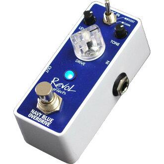 RevoL effects 레보르에페크트/ NAVY BLUE OVERDRIVE EOD-01 /오버 드라이브/음향 처리 장치
