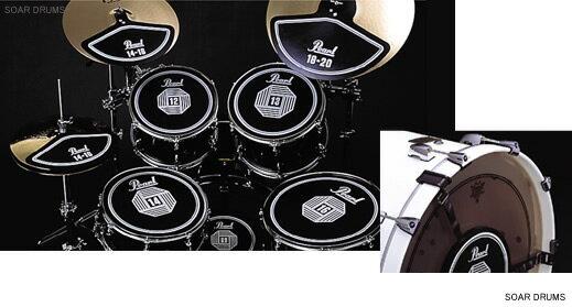 Pearl(パール)ドラム用消音パッド5点(RPS-50)+シンバル用パッド3点セット