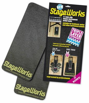キックペダルの滑り止めに!StageWorks ドラムペダルマット ノンスリップペダルマット Non-slip Pedal Mat 防音・防振 楽器用・ドラム用