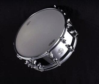 闹别扭广告羊羔MAPEX meipekkusu MPX Series Steel Snare Drum MPST4550 14x51/2铬完成