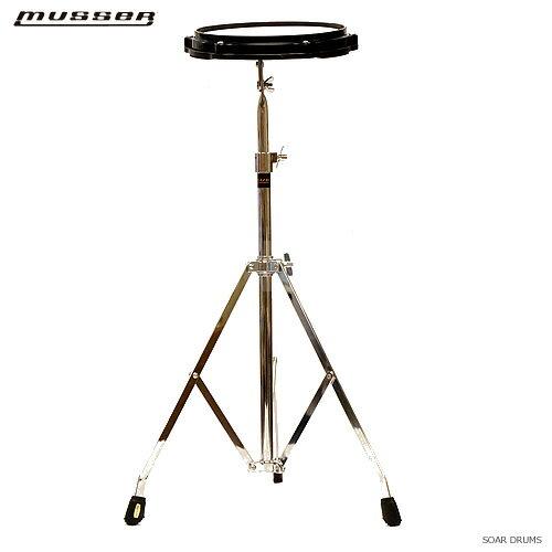 MUSSER(マッサー) ドラム練習台セット 8インチ・プラックティスパッド+スタンドセット PDP1511 スタンド付属! ドラム 練習パッド