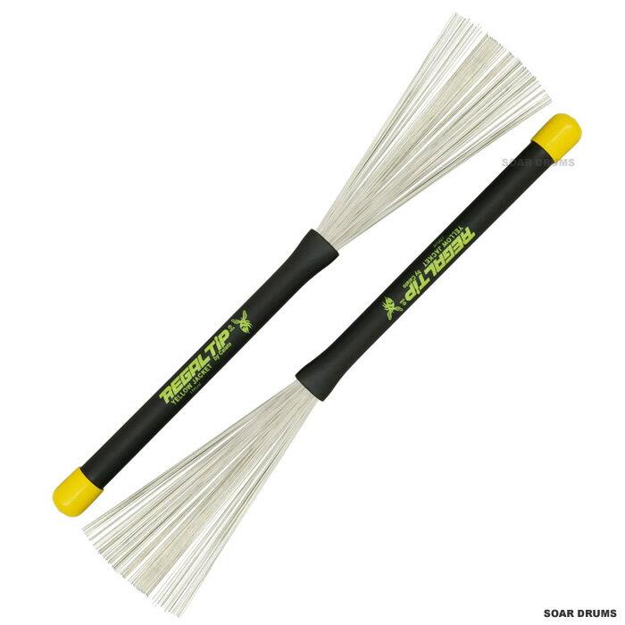 Regal Tip ドラム用・ワイヤーブラシ(振り出し式) 505YJ Yellow Jacket Throw