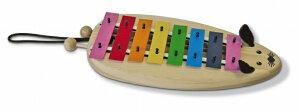 SONOR ソナーオルフ ドイツ製 教育楽器 8音 キッズ用 グロッケン SN-MGC かわいい カラフルな ねずみの 鉄琴 グロッケンシュピール 幼児用 知育楽器
