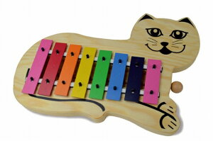 SONOR ソナーオルフ 教育楽器 キャット グロッケン SN-KGC 猫の形のかわいい 鉄琴 キッズ用 幼児用 知育楽器