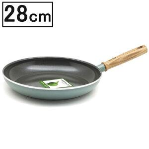 グリーンパン メイフラワー フライパン 28cm 【GREEN PAN IH対応 IH ガス火 直火 ラジエント ハロゲン セラミック 料理 調理 こびりつきにくい】