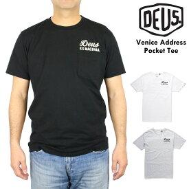 夏物最終 セール デウス エクス マキナ Deus Ex Machinaポケットつき 半袖 プリント Tシャツ 丸首 ポケT ブランド メンズ 大きいサイズあり 【正規品】 【送料無料】 【ネコポス(1点のみ)】