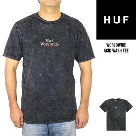 ハフ HUF メンズ 半袖 プリント TシャツWorldwide Acid Wash Tee ワールドワイド アシッド ウォッシュクルーネック 丸首 ブランド おしゃれ US規格 大きいサイズタイダイ 【正規品】【送料無料】【ネコポス(1点のみ)】
