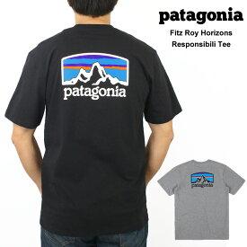 パタゴニア Patagonia メンズ Fitz Roy Horizons Tシャツプリント 半袖 Tシャツ トップス カットソー 丸襟 クルーネックおしゃれ ブランド 厚手 大きいサイズ【正規品】【送料無料】【ネコポス(1点のみ)】