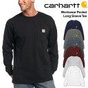 カーハート carhartt ORIGINAL FITポケット付き 長袖 Tシャツ ロンTWorkwear Poket L-Sleeve Tee 無地 ワークウ...