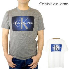 カルバン クライン ジーンズ Calvin Klein Jeans CK ボックス ロゴ プリント グラフィック 半袖 Tシャツ Short Sleeve トップス カットソー クルーネック Uネック 丸襟 メンズ 【正規品】 【メール便】