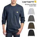 カーハートCARHARTTメンズポケット付き長袖Tシャツ無地ロンT綿ワークウエアブランド大きめ大きいサイズ