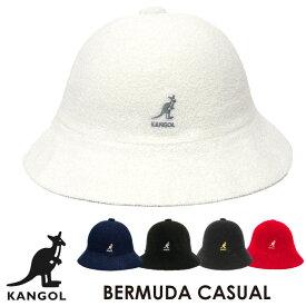 カンゴール KANGOL バミューダ カジュアル ハット BERMUDA CASUAL バケット キャップ 帽子 ツバ ブランドロゴ カンガルー パイル地 メンズ レディース ユニセックス 【正規品】【メール便】