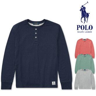 24cc853d0b2f LTD -GOLDEN WEST-  Polo Ralph Lauren Boys POLO Ralph Lauren BOYS henley  neck cotton combination long sleeves T-shirt tops cut-and-sew logo  embroidery men ...