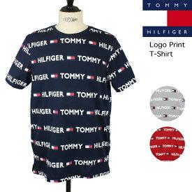 在庫処分セール トミー ヒルフィガー TOMMY HILFIGER メンズ 総柄 ロゴ プリント 半袖 Tシャツ カットソー トップス 大きいサイズあり ブランド 【正規品】【メール便】【送料無料】