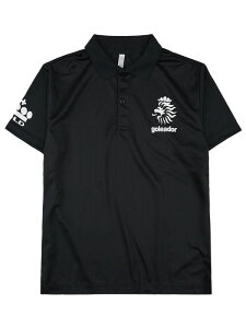 goleador ゴレアドール SHOP限定! ライオンロゴ ポロシャツ ブラック×ホワイト GO-060-BLK