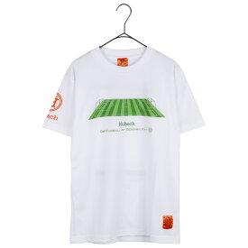 Hubsch ヒュブシュ 限定 サッカー Tシャツ (ピッチ) ホワイト H-0125-01-WHT ゴレアドール 兄弟ブランド セール シャツ