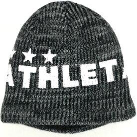 アスレタ ATHLETA ジュニア ウォームニットキャップ ブラック サッカー フットサル ニット帽 帽子 05222J 70