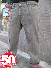 【1万円以上で送料無料】metropia center denim pants black【L】