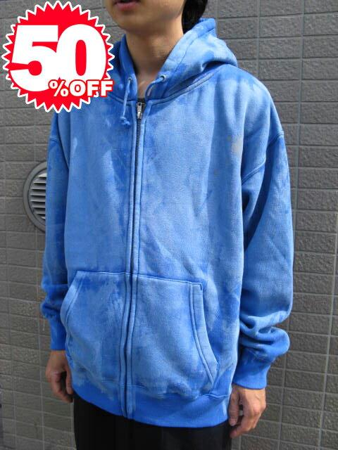 huge blks zip up sweat parka 【L】 blue