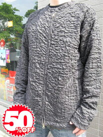 【1万円以上で送料無料】metropia wrinkle zip up jacket black 【xl】