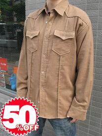 【1万円以上で送料無料】★Special Sale!! 50%OFF!!★ metropia wstn shirts brown 【l】