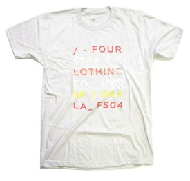 ≪1万円以上で送料無料≫FOURSTAR PREMIUM TEE SHIRT TYPE FORWARD 【M】 SILVER