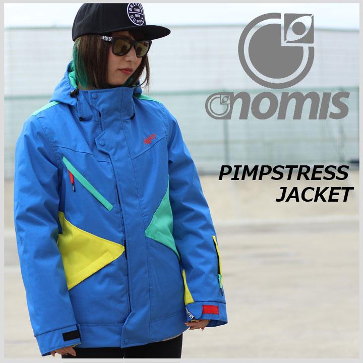 NOMIS ノーミス W'S PIMPSTRESS JACKET ピンプストレスジャケット BLUE 40%OFF 送料無料 訳アリ特価品