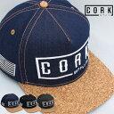 CORK SUPPLY CO コルクサプライ LOGO SNAPBACK ロゴ スナップバック CAP キャップ 帽子 フラットバイザー メンズ レデ…