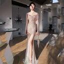 パーティードレス ドレス キャバドレス ロングドレス マーメイドドレス マーメイド イブニングドレス チュール 忘年会…
