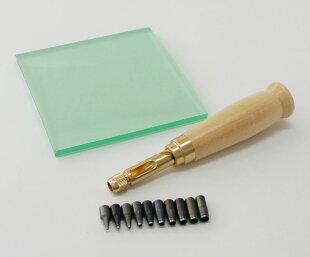 本体+替刃10本+スクリューポンチ用ビニ板付特別セット野中製作所