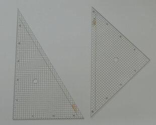 方眼三角定規30cm二枚組