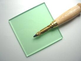 ビニ板(グリーン透明)カッティングマット100x100x6mmポンチ用(※ポンチ本体は附属しておりません)