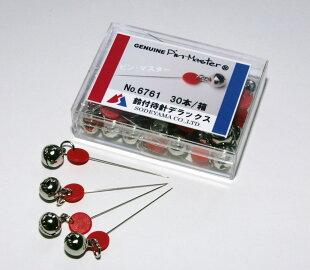 鈴付待針デラックス30本針長:35mm全長45mm太さ:0.43mm