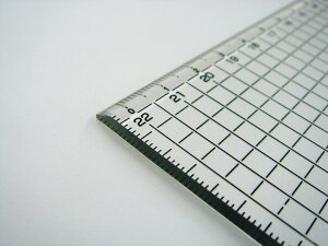 方眼カッター定規45cm(450x50x3mm)黒目盛りDESIGN MASTER