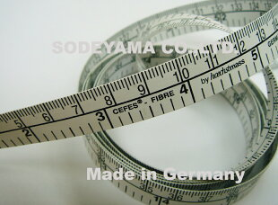 ヘキストマスhoechstmassデラックスメジャー150cm/60in15mm巾同面表示