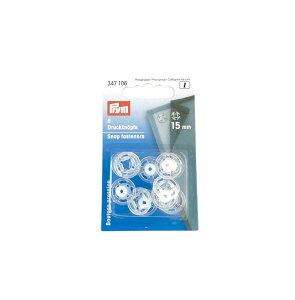 《Prym》プリム ドイツ・プラスチックスナップボタン(ホック) 丸型 15mm/6セット入り 全2色347 106-347 105