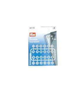 《Prym》プリム ドイツ・プラスチックスナップボタン(ホック) 角型 7mm/12セット入り半透明(オフホワイト)347 118